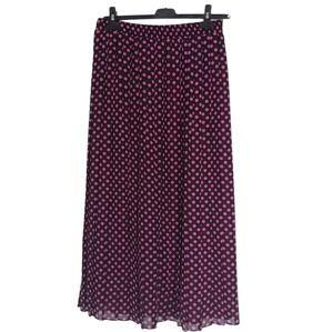 Vintage polka dot pleated skirt